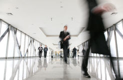 Moving crowd in corridor Royalty Free Stock Photography