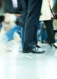 Moving crowd. motion blur Royalty Free Stock Image