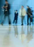 Moving crowd. motion blur Royalty Free Stock Photos