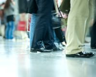 Moving crowd. motion blur Royalty Free Stock Photography