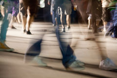 Moving crowd.motion blur Royalty Free Stock Photos