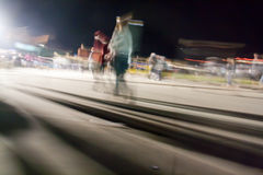 Moving crowd.motion blur Royalty Free Stock Photo
