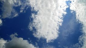Moving cumulus clouds stock video