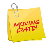 Moving date post illustration design. Over a white background Stock Image