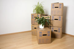 Moving Day. Ready to move into a new house Royalty Free Stock Photography