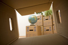 Moving Day. Ready to move into a new house Royalty Free Stock Photo