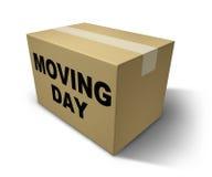Moving day box Stock Photo