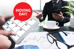 MOVING DAY! Stock Images