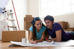 Moving Day, Projecting the New Home Royalty Free Stock Images