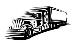 Moving delivery truck Royalty Free Stock Images