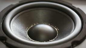 Moving dirty audio speaker Royalty Free Stock Images