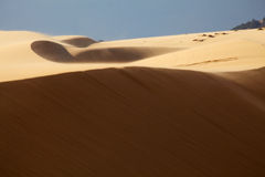 Moving Dunes in Mui Ne, Vietnam Royalty Free Stock Photos