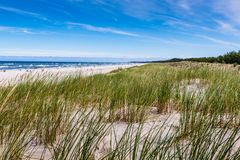 Moving dunes park near Baltic Sea in Leba, Poland Stock Photos