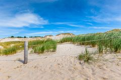 Moving dunes park near Baltic Sea in Leba, Poland Stock Images