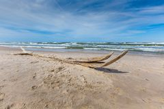 Moving dunes park near Baltic Sea in Leba, Poland Stock Photography