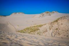 Moving dunes park near Baltic Sea in Leba, Poland Stock Photos