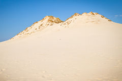 Moving dunes in Poland Royalty Free Stock Images