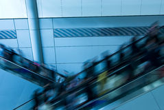 Moving escalator Stock Image