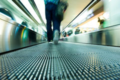 Moving escalator Stock Photography