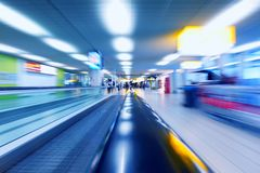 Moving escalator Stock Images