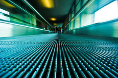 moving escalator Stock Photo