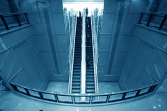 Moving escalator Royalty Free Stock Image