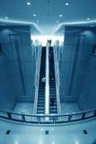 Moving escalator Stock Image