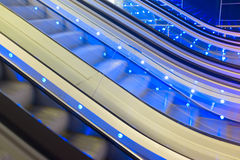 Moving Escalator, abstract detail. Royalty Free Stock Image