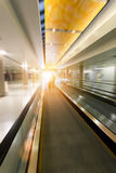 Moving escalator in airport Stock Photography