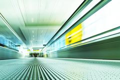 Moving escalator Royalty Free Stock Photography