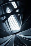 Moving escalator in the business center Stock Photos
