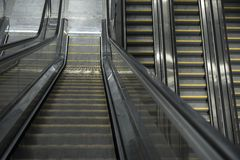 Moving escalator in the business center Royalty Free Stock Photo