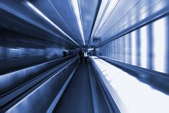 Moving Escalator In The Airport Stock Images