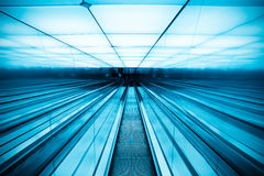 Moving escalator in modern building Royalty Free Stock Photography