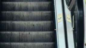 Moving escalator in Modern Urban Interior. 4K Stock Footage Clip stock footage