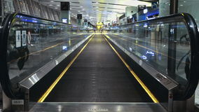 Moving escalator in Modern Urban Interior. Stock Footage Clip stock video
