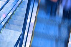 Moving escalator by motion Stock Photography