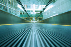 Moving Escalator-Motion Blurred Stock Photography