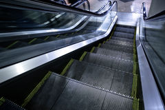 Moving escalator without people Stock Images
