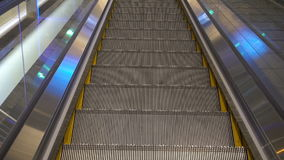 Moving escalator up in a public area. Hd footage 1080 stock video