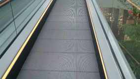 The moving escalator stock footage