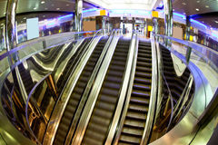 Moving escalators Stock Photography