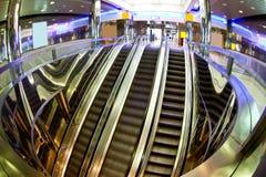 Moving escalators Stock Photography