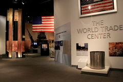 Moving exhibit on September 11th's horrific attack,State Museum,Albany,New York,2015. Moving exhibit documenting the terror attacks on our country,September 11th Stock Image