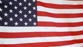 Moving fabric United States flag stock video footage