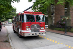 Moving Fire Engine royalty free stock photo