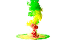 Moving fluid and mix Stock Image