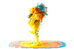Moving fluid and mix Stock Images