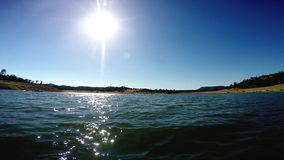 Moving Forward POV on Water Under the Sun stock footage