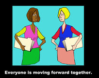 Moving Forward Together Stock Photo